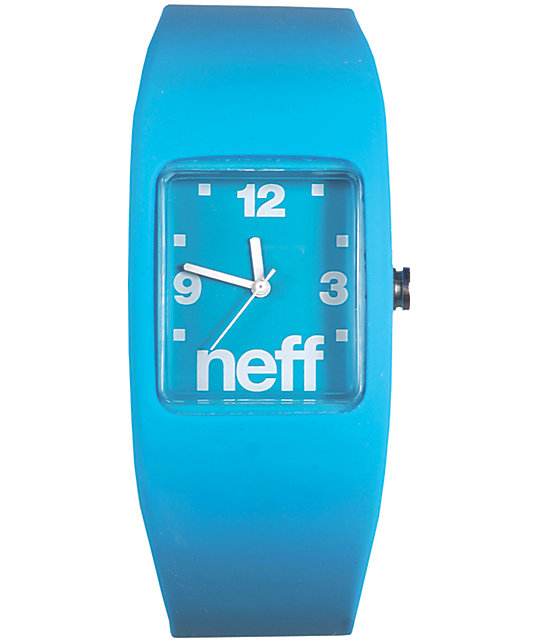 Neff Bandit Cyan Blue Wristband Analog Watch