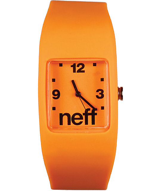 Neff Bandit Orange Wristband Analog Watch