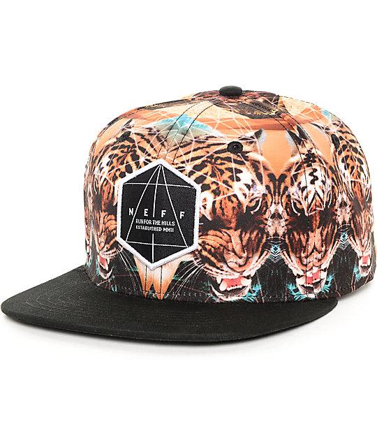Neff Battlekat Black Snapback Hat