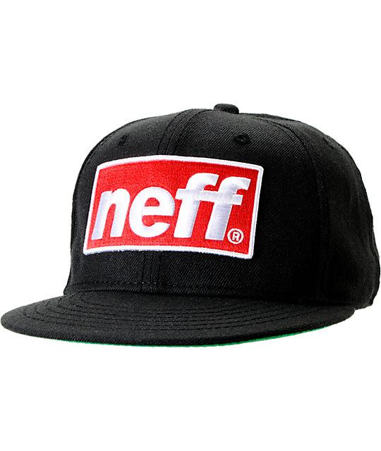 Neff Blok Cap Black Snapback Hat