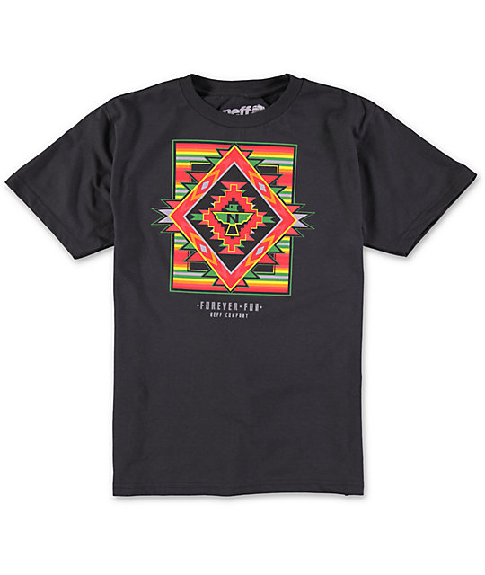 Neff Boys Bright Aztec T-Shirt