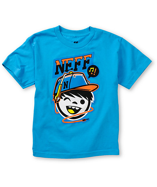 Neff Boys Cordy Blue T-Shirt
