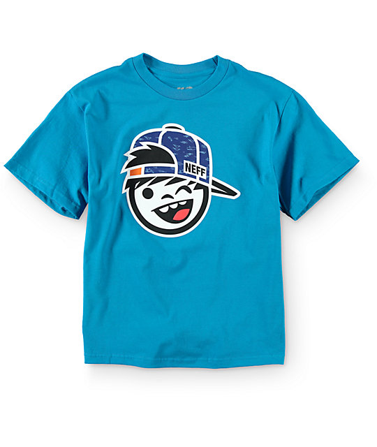 Neff Boys Kenni Fill Turquoise T-Shirt