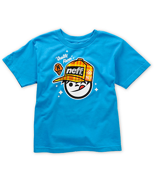 Neff Boys Quality Sucker Turquoise T-Shirt