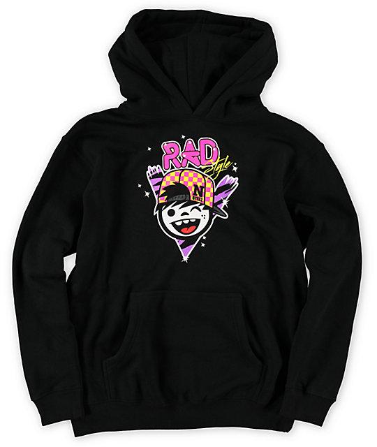 Neff Boys Rad Style Black Pullover Hoodie