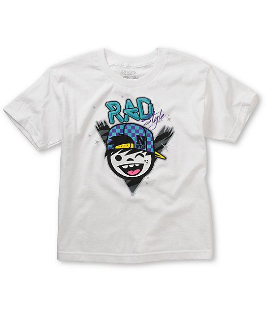 Neff Boys Rad Style White T-Shirt