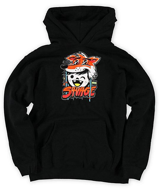 Neff Boys Savage Black Pullover Hoodie