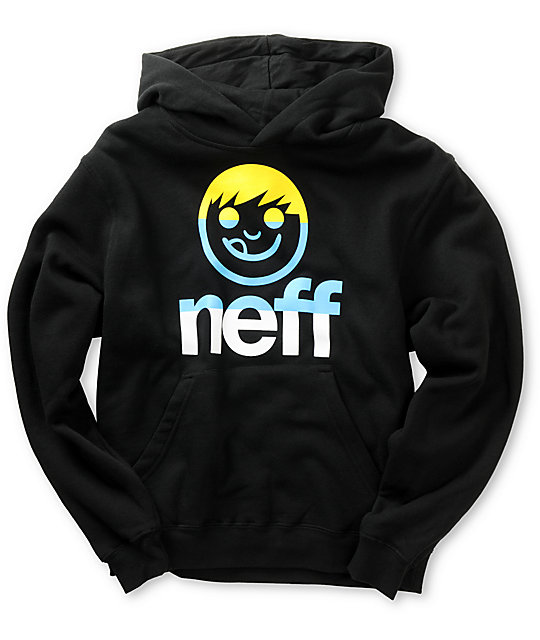 Neff Boys Tri Sucker Black Pullover Hoodie
