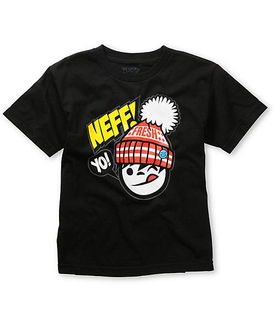 Neff Boys Yo Fresh Black T-Shirt