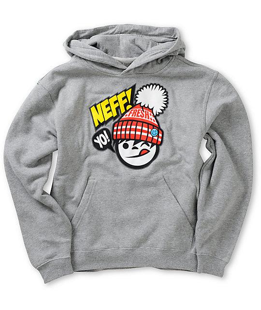 Neff Boys Yo Fresh Grey Pullover Hoodie