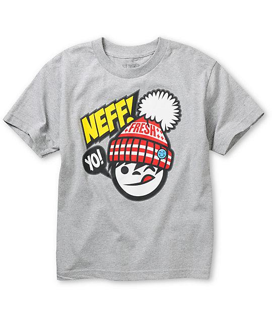 Neff Boys Yo Fresh Grey T-Shirt