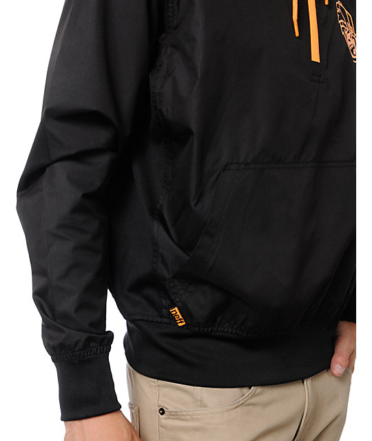 Neff Breaker Black Pullover Windbreaker Jacket