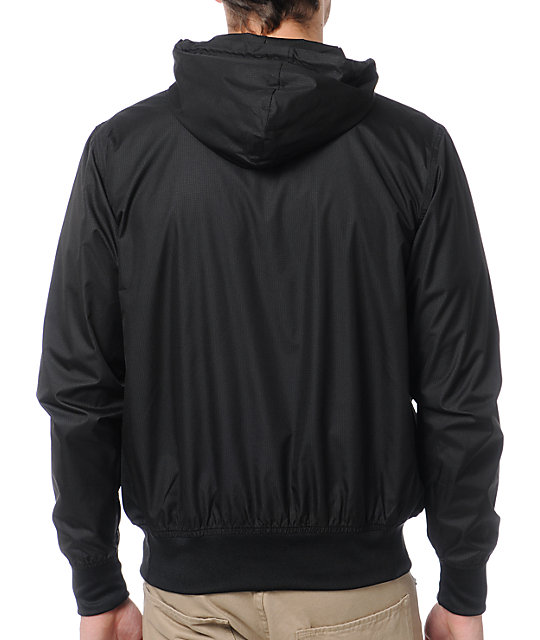 Neff Breaker Black Pullover Windbreaker Jacket | Zumiez