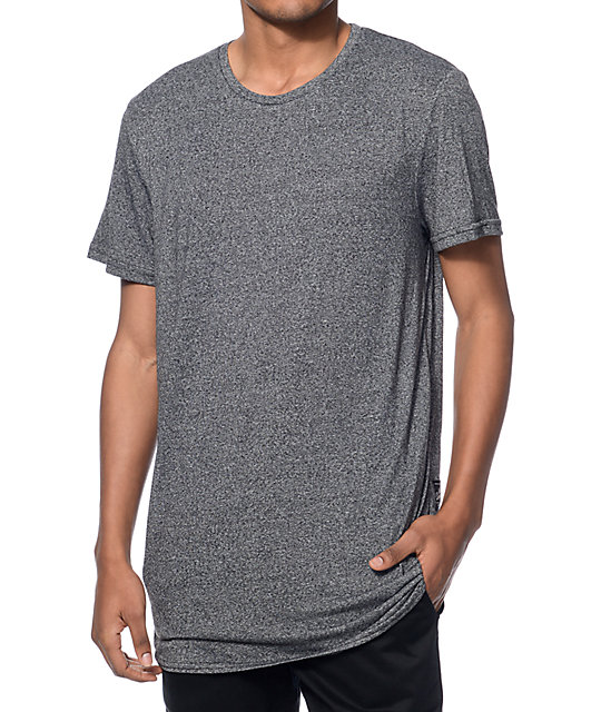 Neff Bronson Heather Black Long T-Shirt at Zumiez : PDP