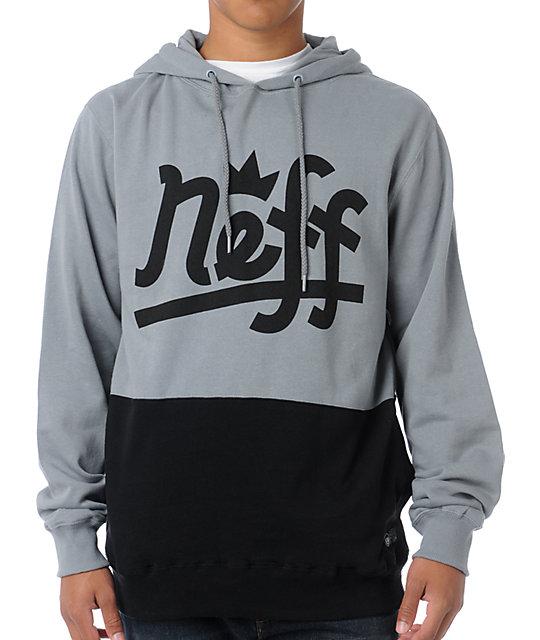 Neff Brooks Grey & Black Pullover Hoodie