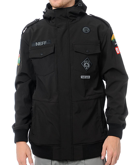 Neff Camp Reject 10K Black Softshell Snowboard Jacket