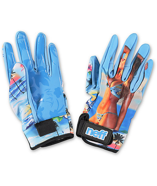 Neff Chameleon Babe Hawaiian Print Pipe Snowboard Gloves