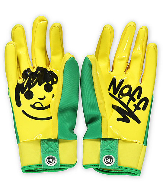Neff Chameleon Crayons Yellow Pipe Snowboard Gloves