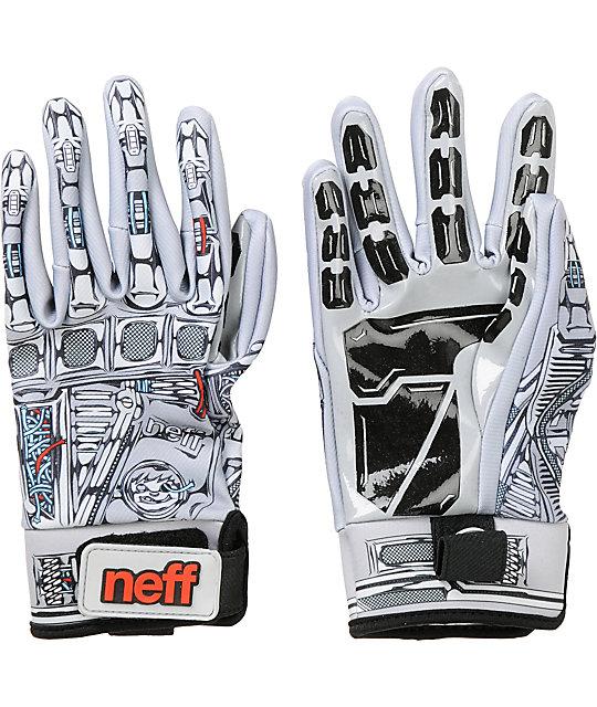 Neff Chameleon Robot Grey Pipe Snowboard Gloves