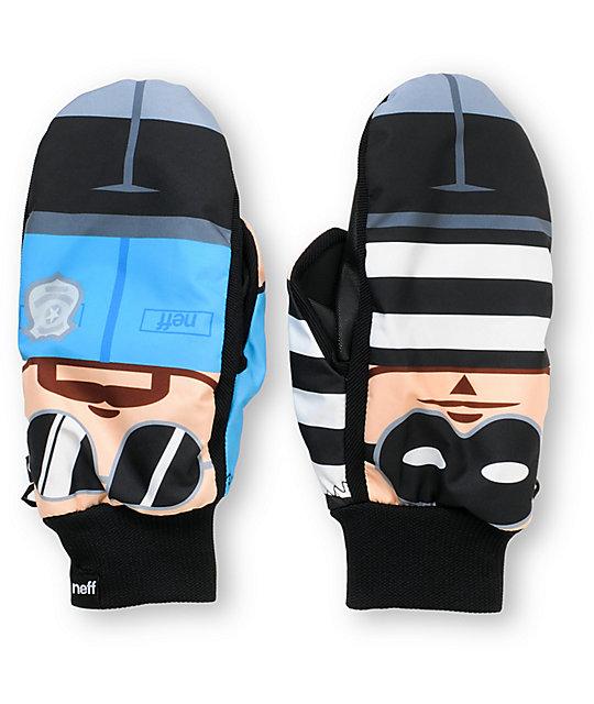 Neff Character Mitt Cop & Robber Snowboard Mittens