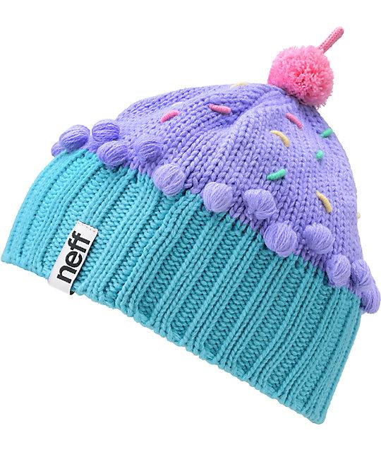 Neff Confetti Pastel Purple Cupcake Beanie