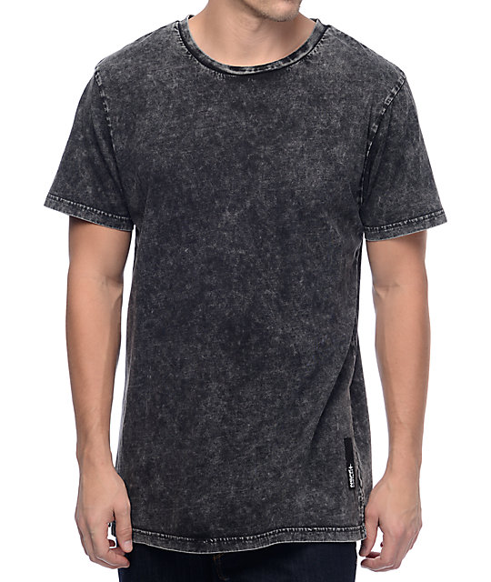 Contact Black Washed T-Shirt
