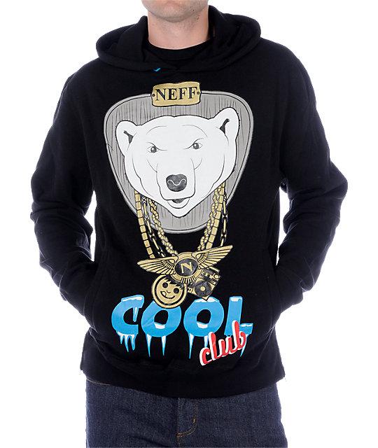Neff Cool Club Black Hoodie