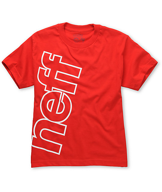 Neff Corp Fade Boys Red T-Shirt