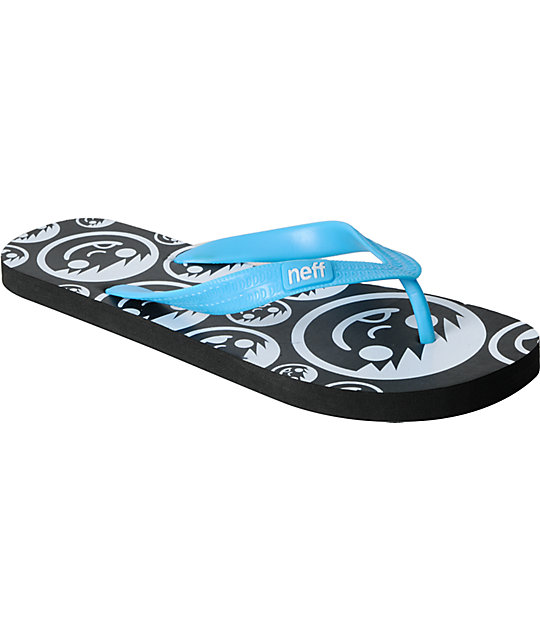 Neff Corpo Black & Blue Mens Sandals