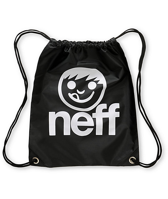 Neff Corpo Black Drawstring Bag