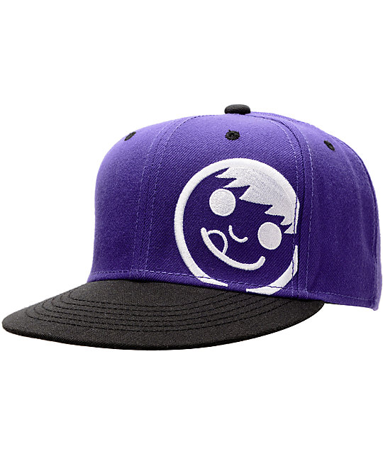Neff Corpo Purple & Black Snapback Hat