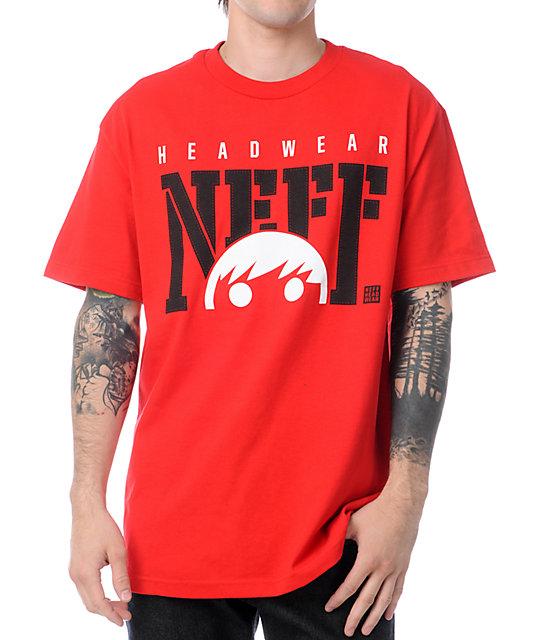 Neff Court Red T-Shirt