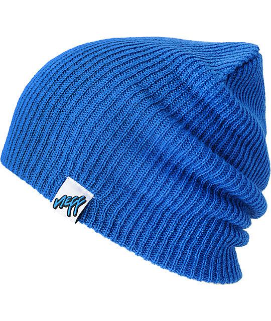 Neff Cuff Blue Beanie