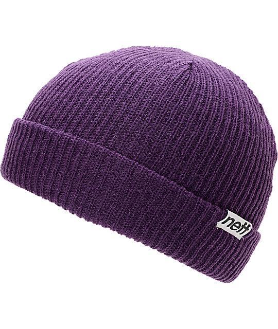Neff Cuff Purple Beanie