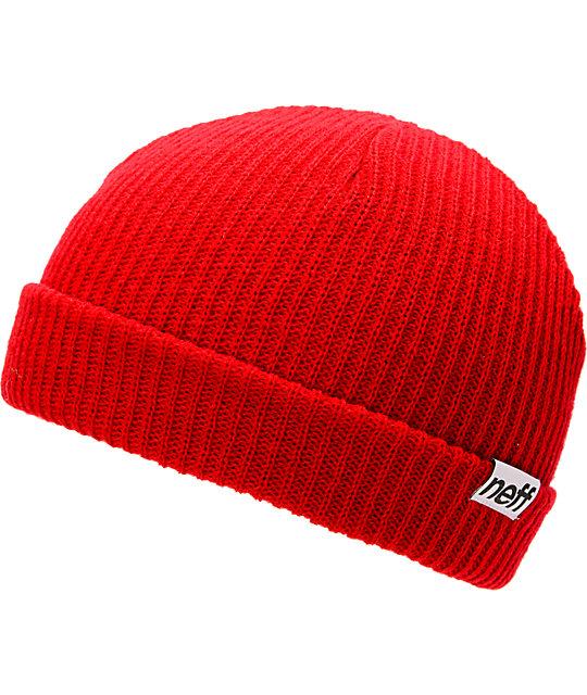 Neff Cuff Red Beanie
