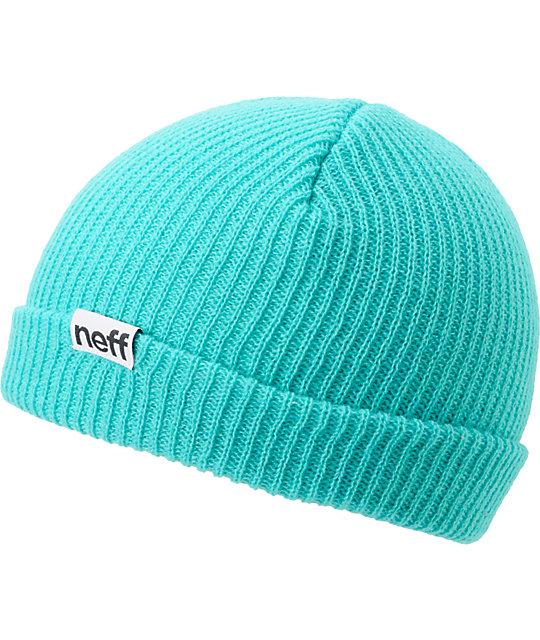 Neff Cuff Teal Beanie