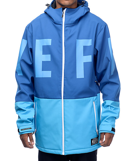 Neff Daily 10K Cyan Softshell Snowboard Jacket