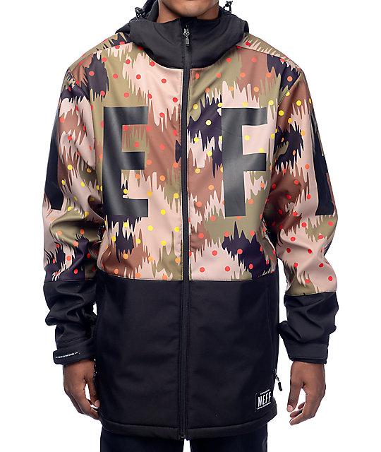 Neff Daily 10K Softshell Camo Snowboard Jacket