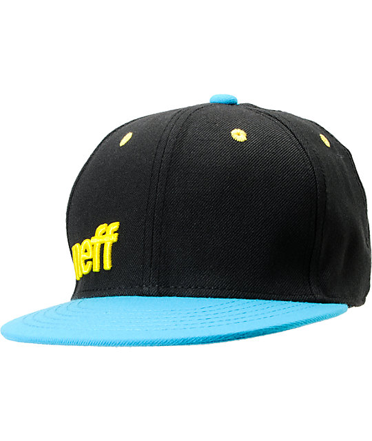 Neff Daily Black & Cyan Snapback Hat