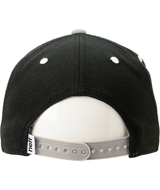 Neff Daily Black & Grey Snapback Hat