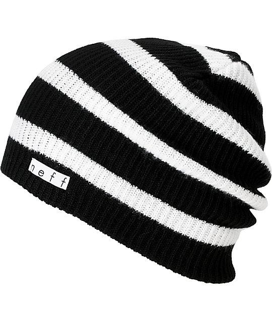 Neff Daily Black & White Stripe Beanie