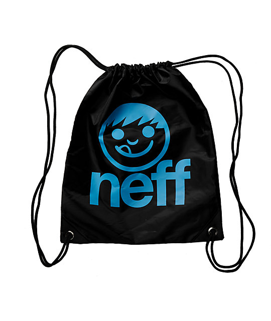 Neff Daily Black Drawstring Bag