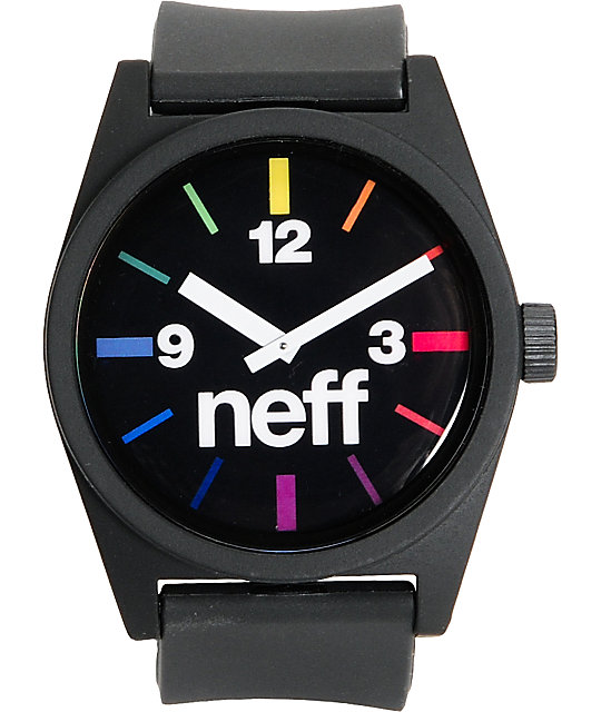 Neff Daily Black Spectrum Analog Watch