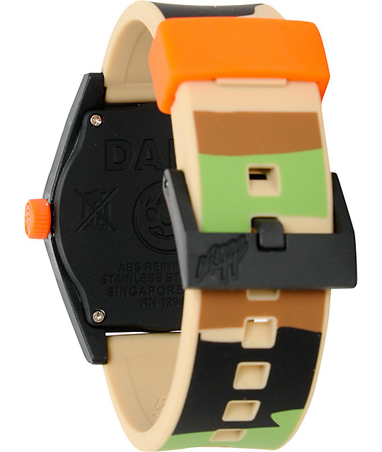 Neff Daily Camo & Orange Analog Watch