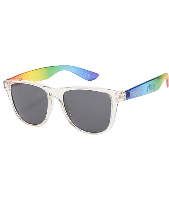 Neff Daily Clear Rainbow Sunglasses