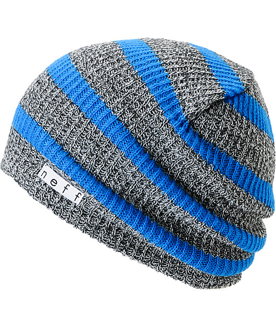 Neff Daily Grey & Blue Striped Beanie
