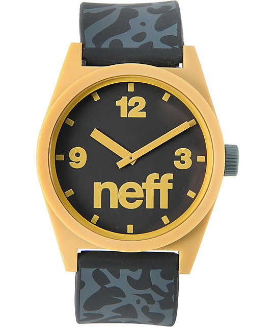 Neff Daily Krinkle Black & Gold Analog Watch