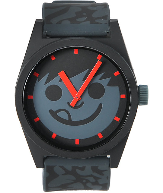 Neff Daily Krinkle Black & Grey Analog Watch