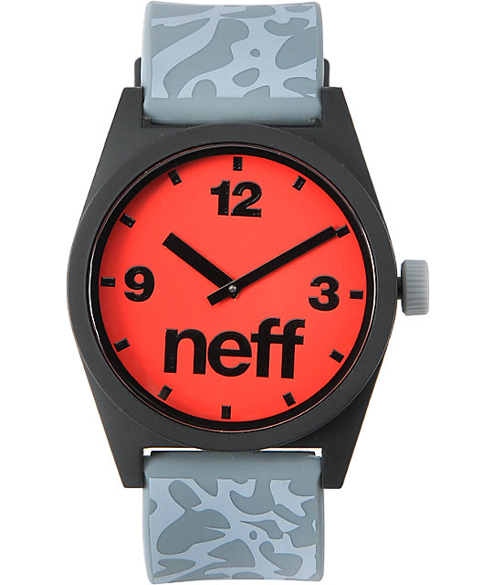 Neff Daily Krinkle Grey & Red Analog Watch