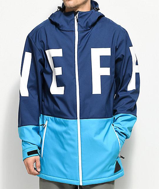 Neff Daily Navy Cyan 10K Softshell Jacket